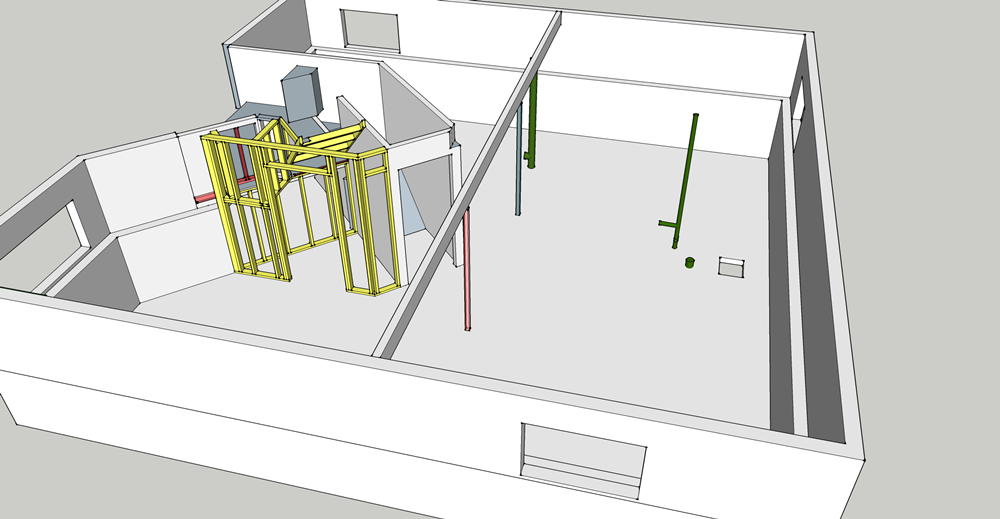 Basement Detailed closet cage