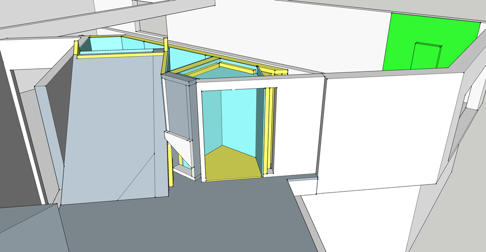 Basement Detailed entry closet