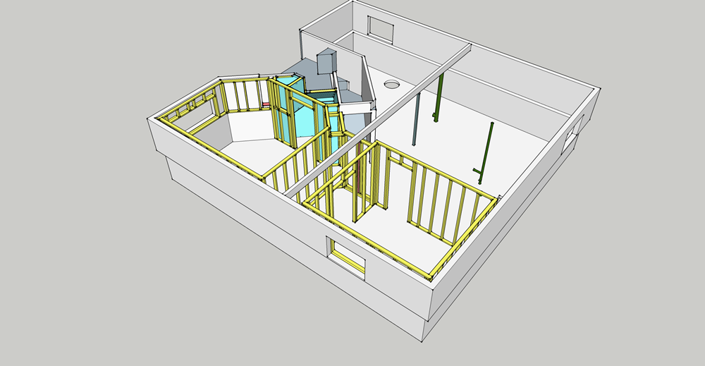Basement Detailed framing