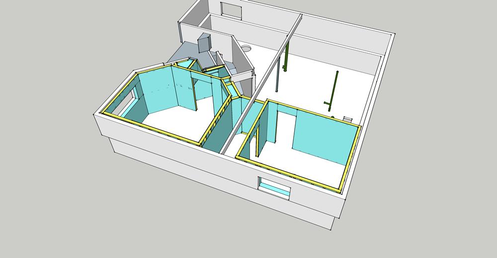 Basement Detailed sheeting